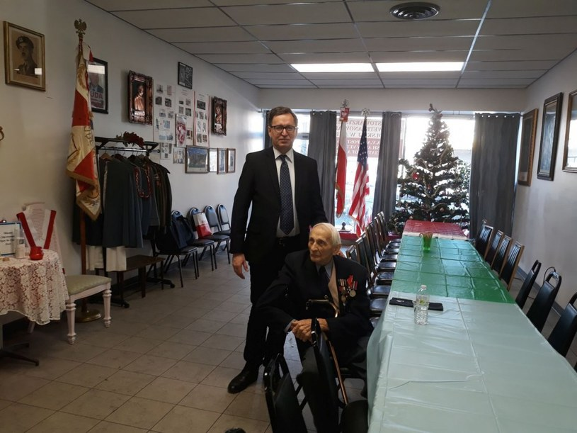 Tadeusz Terlikowski z Jarosławem Szarkiem, prezesem IPN w styczniu 2018 roku w Chicago. Fot. Katarzyna Ratajczak-Sowa /IPN