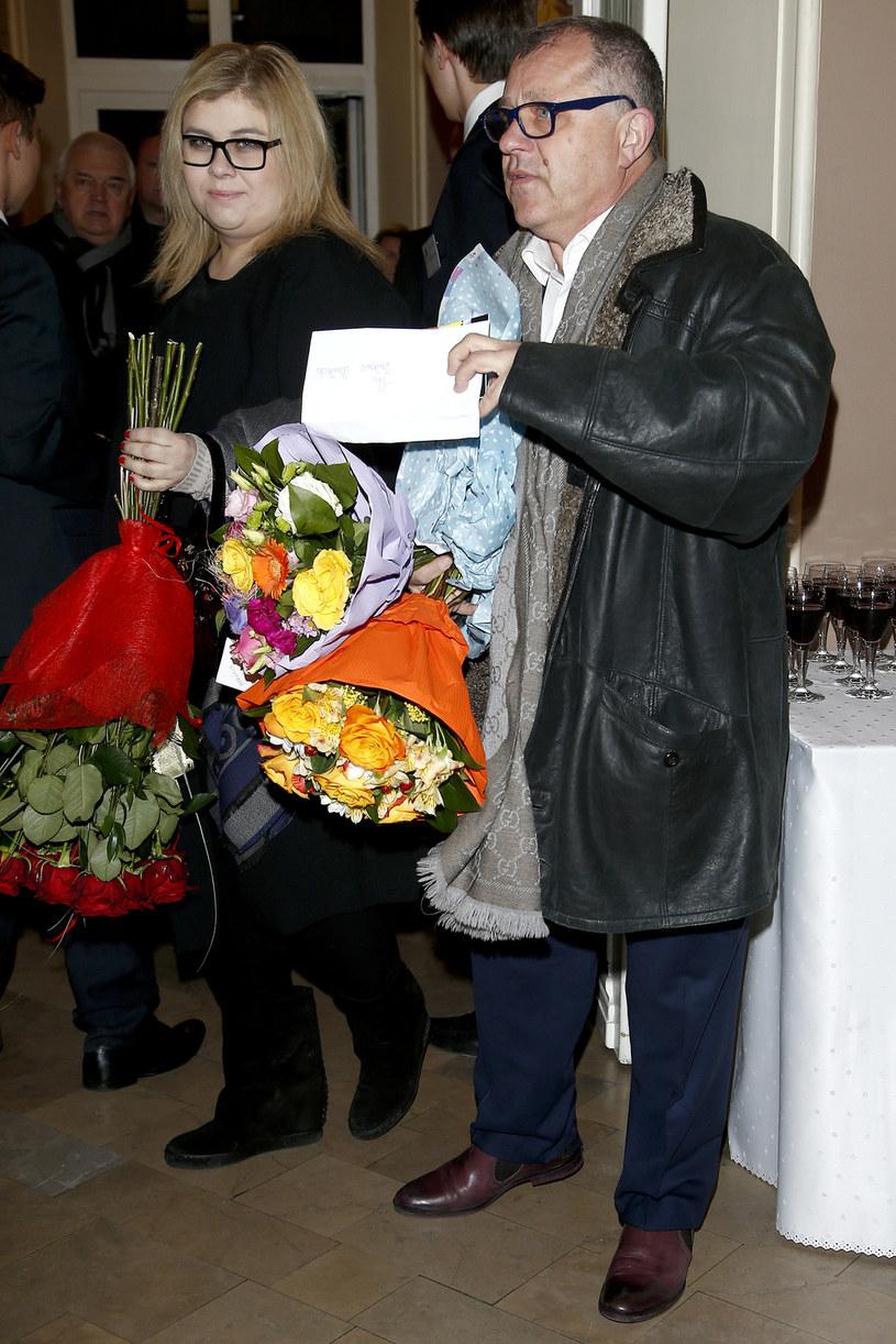 Tadeusz z żoną /- /AKPA