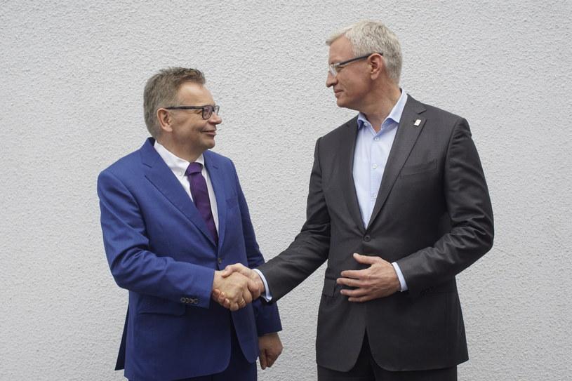 Tadeusz Zysk i Jacek Jaśkowiak /WALDEMAR WYLEGALSKI/POLSKA PRESS /East News