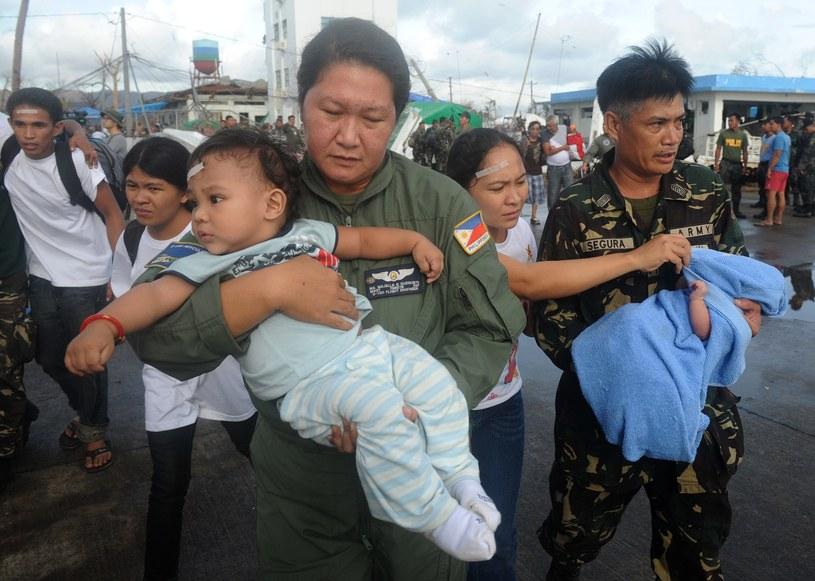 Tajfun Haiyan spustoszył środkową część Filipin /AFP
