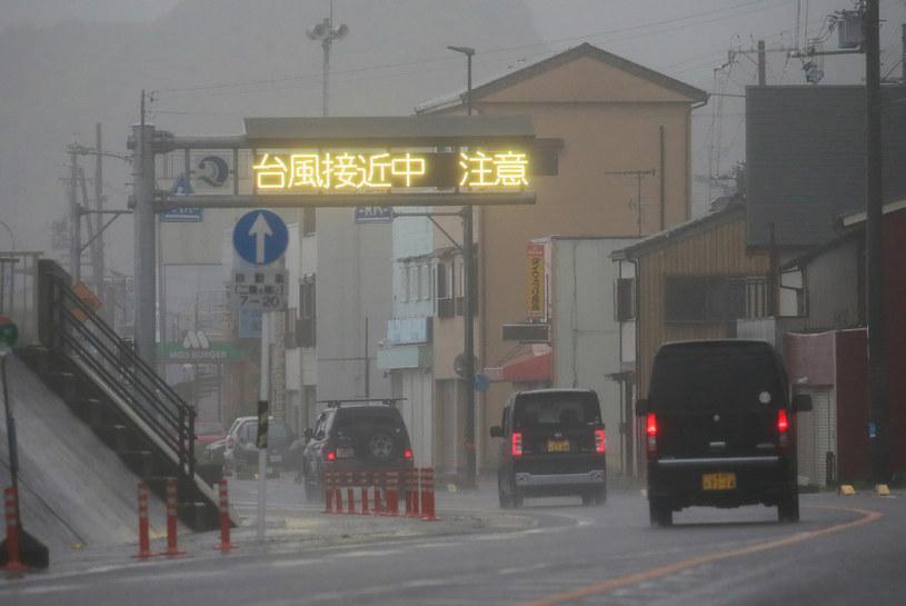 Tajfun Lan dotarł do Japonii (zdj. ilustracyjne) /STR / JIJI PRESS /AFP