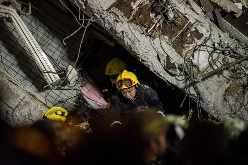 Tajwan: Wzrosła liczba ofiar trzęsienia ziemi /AFP