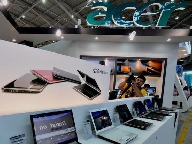 Tajwański Acer do 2011 r. planuje zostać największym sprzedawcą laptopów i netbooków na świecie /AFP