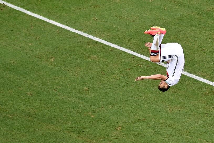 Tak 36-letni Miroslav Klose cieszył się z 15. gola na MŚ /AFP