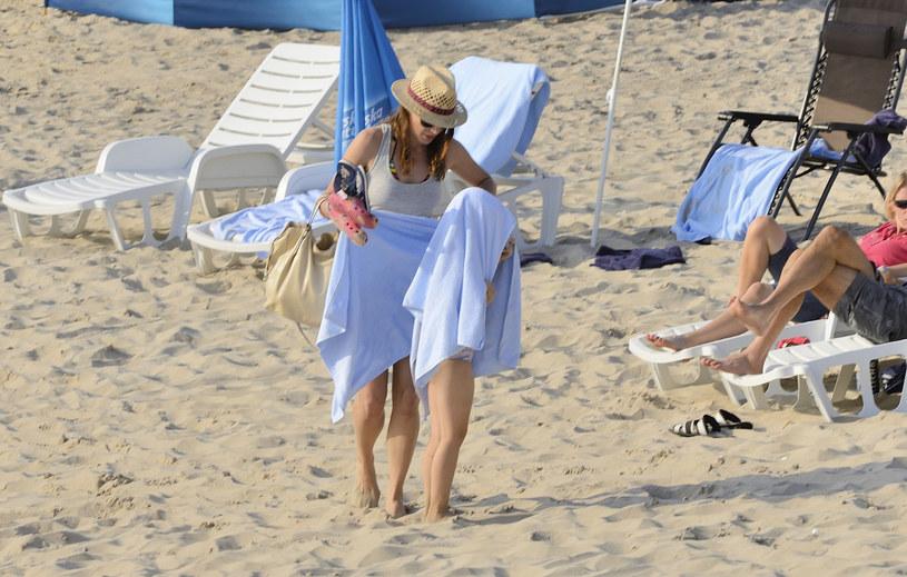 Tak Anna Dereszowska spędzała wakacje w 2013 roku /East News