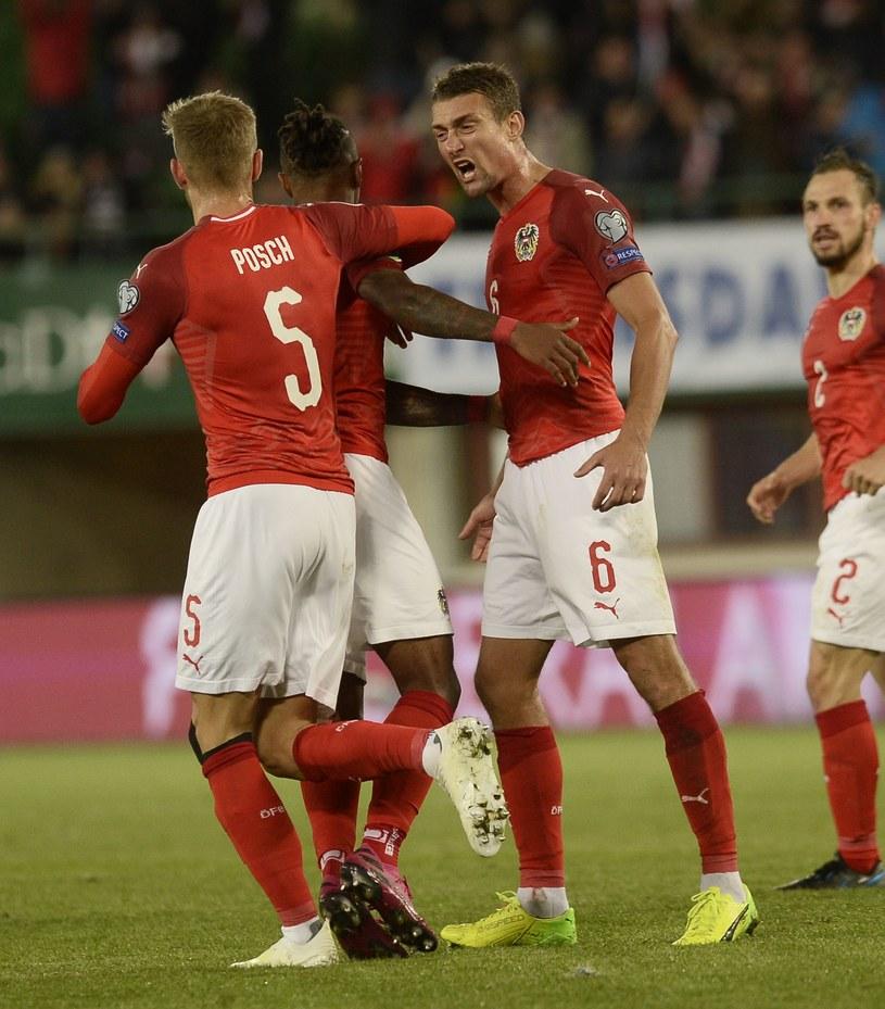 Tak Austriacy cieszyli się ze zwycięstwa /AFP