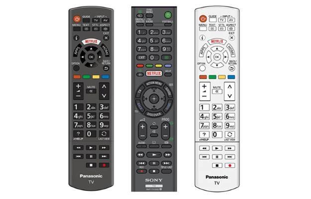 Tak będą wyglądały piloty telewizyjne z przyciskiem Netflix /materiały prasowe