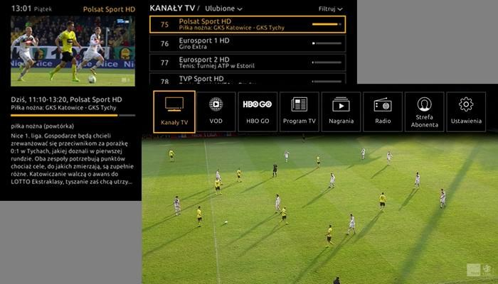 Tak będzie prezentował się nowy wygląd menu w dekoderach Cyfrowego Polsatu /materiały prasowe