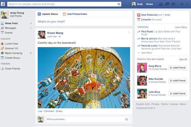 Tak będzie wyglądał nowy Facebook /materiały prasowe