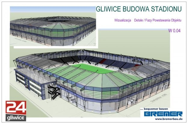 Tak będzie wyglądał nowy stadion Piasta Gliwice. Ma stanąć już za rok! /Informacja prasowa/INTERIA.PL