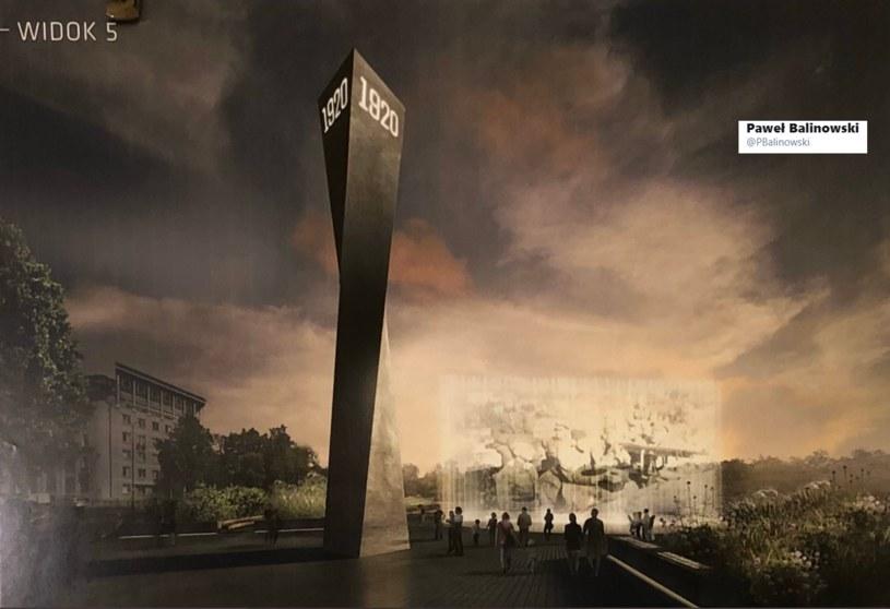 Tak będzie wyglądał pomnik Bitwy Warszawskiej /Twitter