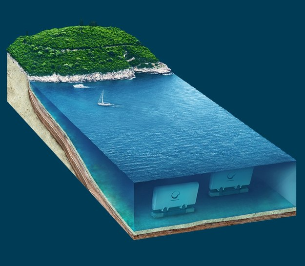Tak będzie wyglądała instalacja WaveRoller. Fot. AW-Energy /&nbsp