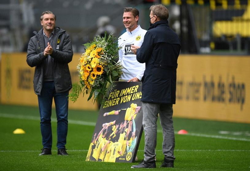 Tak Borussia Dortmund pożegnała Łukasza Piszczka /Matthias Hangst /PAP/EPA