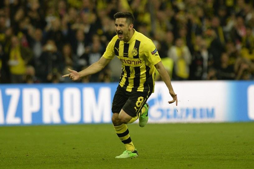 Tak cieszył się Ilkay Guendogan ze zdobycia gola w finale Ligi Mistrzów /AFP
