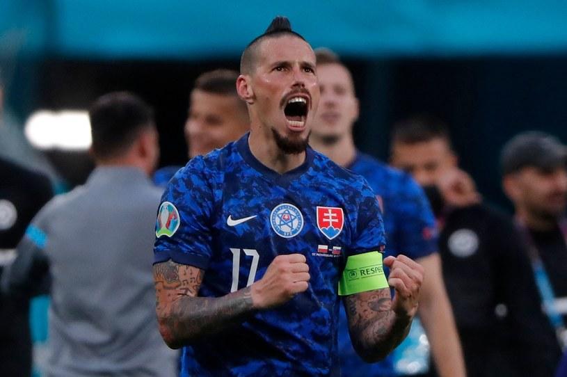Tak cieszył się Marek Hamszik po meczu z Polską /AFP