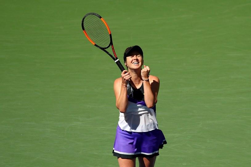 Tak cieszyła się Jelina Switolina z awansu do półfinału US Open /AFP