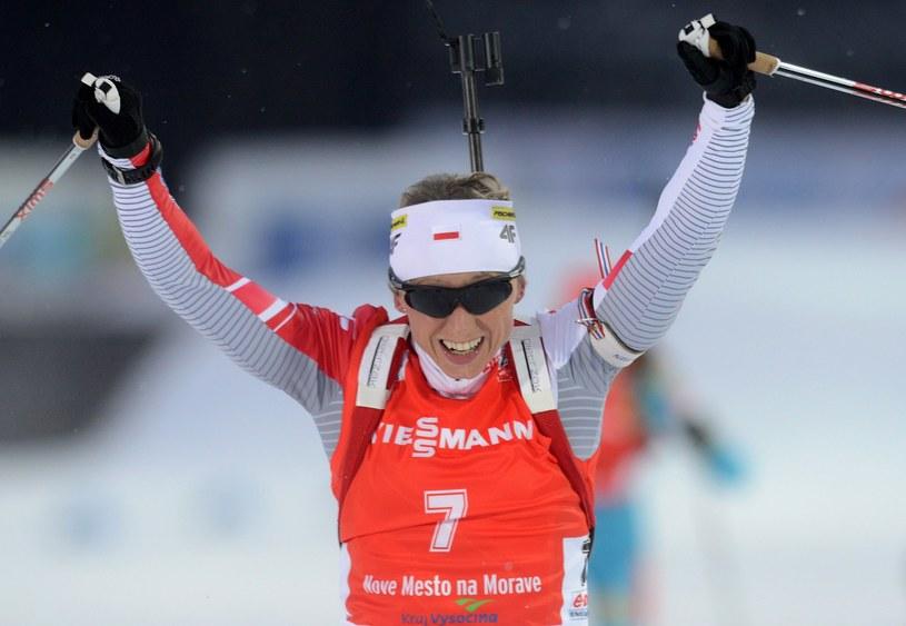 Tak cieszyła się Krystyna Pałka ze srebrnego medalu mistrzostw świata. Czy w zbliżającym się sezonie również będą sukcesy? /AFP