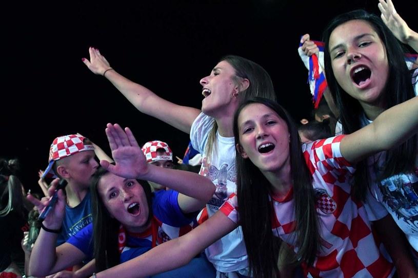 Tak cieszyli się kibice Chorwacji na mundialu /AFP