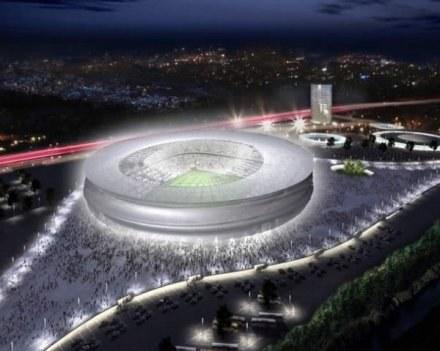 Tak docelowo wyglądać ma stadion we Wrocławiu /AFP