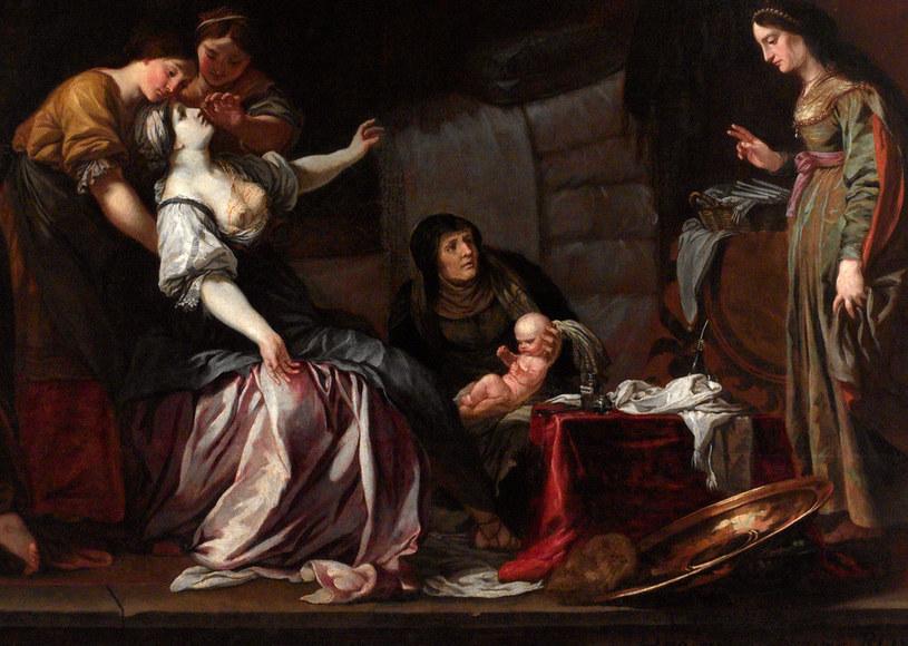 Tak dworski poród w X wieku wyobrażał sobie czeski malarz epoki baroku (źródło: domena publiczna) /Ciekawostki Historyczne