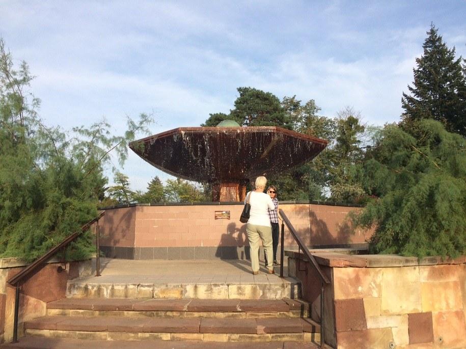 Tak fontanna prezentuje się w pełnej krasie... /Kuba Kaługa /RMF FM