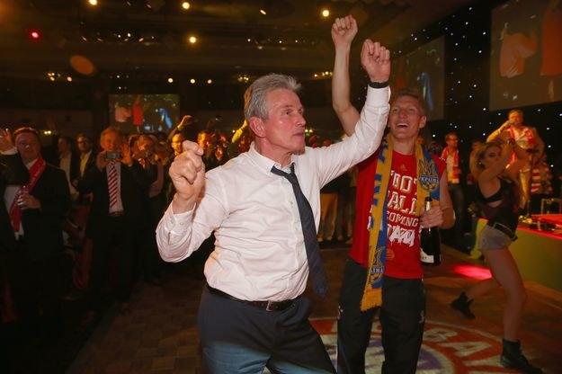 Tak Jupp Heynckes świętował zwycięstwo Bayernu w LM /AFP