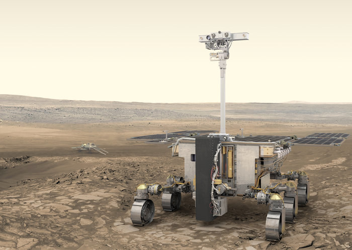 Tak łazik ma wyglądać na powierzchni Marsa /ESA/ATG medialab /Materiały prasowe