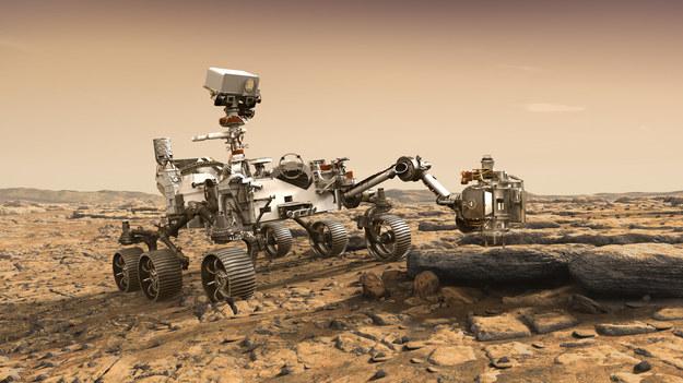 Tak łazik Mars 2020 ma wygladac na powierzchni Czerwonej Planety /NASA/JPL-Caltech /Materiały prasowe