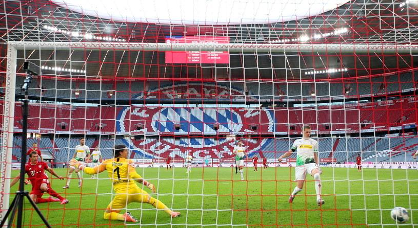 Tak Leon Goretzka zapewnił wygraną Bayernowi /Alexander Hassenstein /PAP/EPA