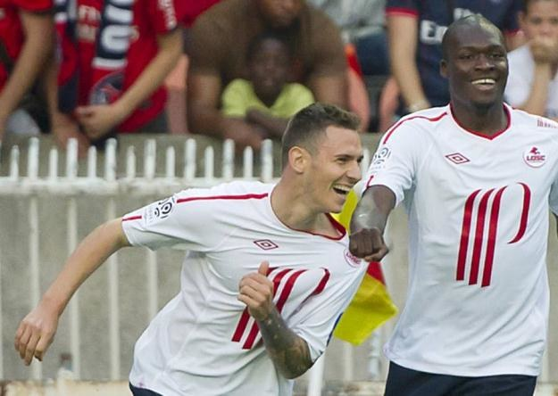 Tak Ludovic Obraniak cieszył się z gola strzelonego PSG w finale Pucharu Francji /AFP
