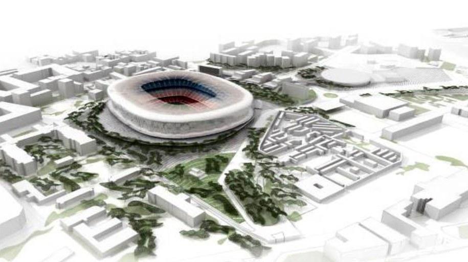 Tak ma wyglądać Camp Nou po przebudowie /PAP/EPA/FC BARCELONA /PAP/EPA