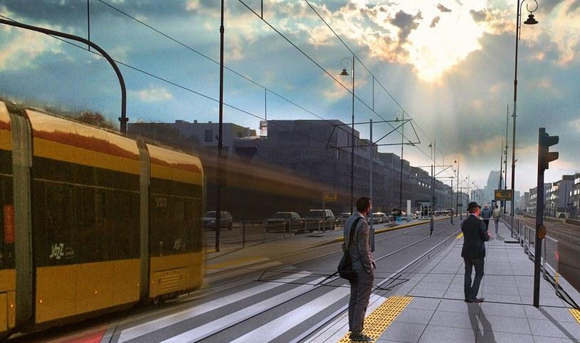Tak ma wyglądać nowa trasa tramwajowa do Wilanowa /Miasto Stołeczne Warszawa /Archiwum
