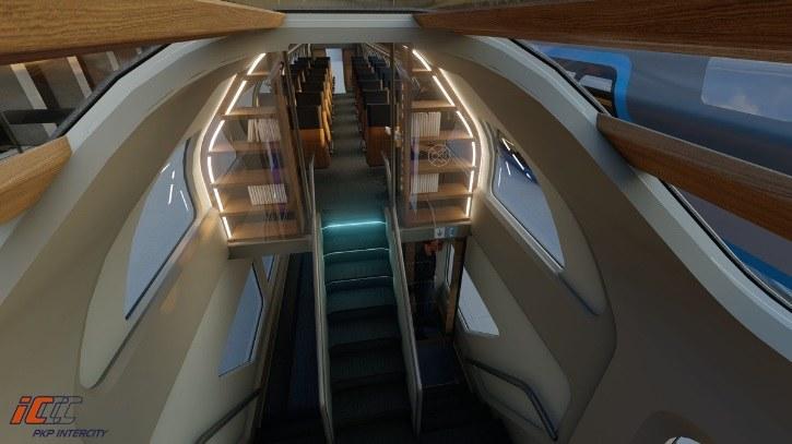 Tak ma wyglądać wnętrze nowych wagonów piętrowych PKP Intercity /PKP Intercity /Archiwum