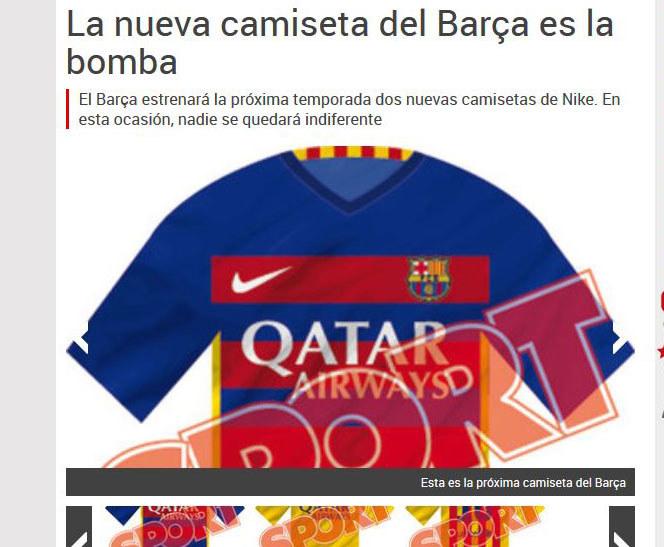 Tak mają wyglądać nowe koszulki Barcelony / fot. http://www.sport.es /INTERIA.PL