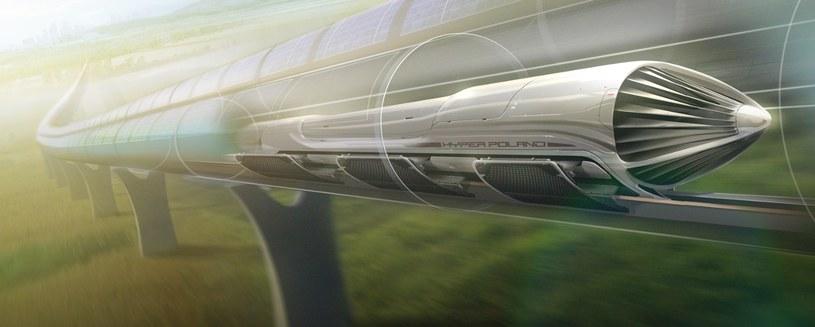 Tak mogłaby wyglądać kapsuła Hyperloop w Polsce (fot. Hyper Poland) /materiały prasowe