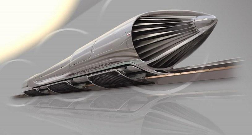 Tak mogłaby wyglądać kapsuła Hyperloop w Polsce /materiały prasowe