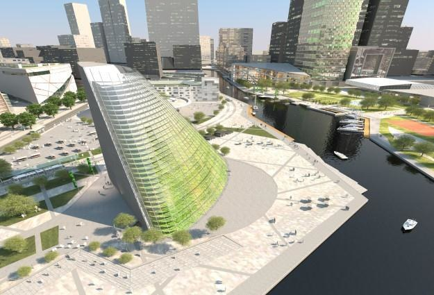 """Tak może wyglądać pierwszy """"zielony wieżowiec"""".   Fot. Plantagon /materiały prasowe"""