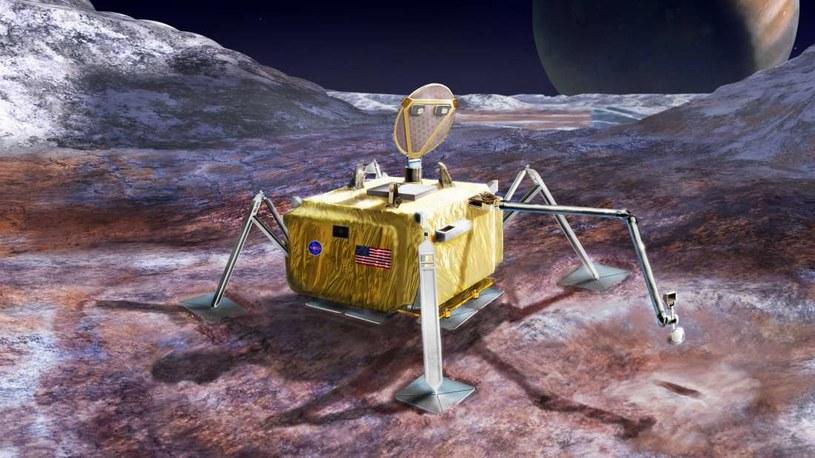 Tak może wyglądać próbnik NASA, który wyląduje na Europie /NASA