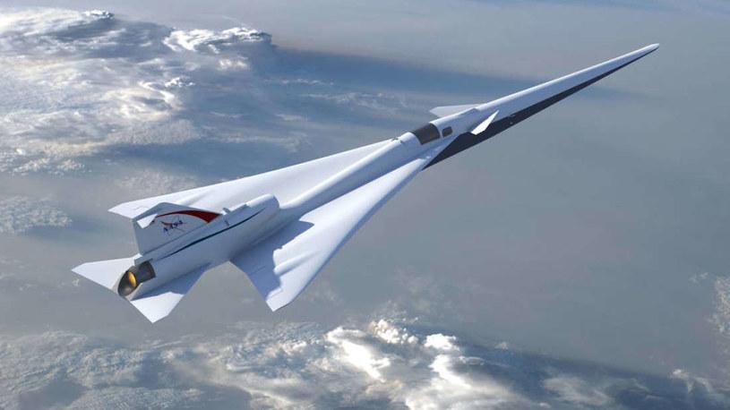 Tak może wyglądać samolot naddźwiękowy NASA /materiały prasowe