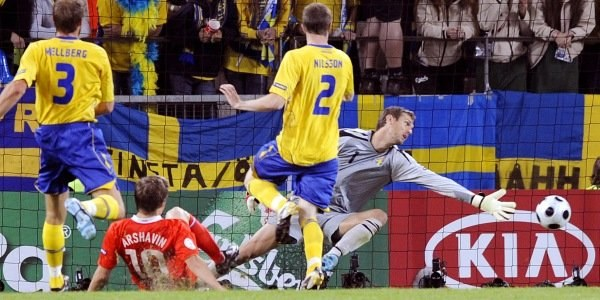 Tak padł drugo gol dla Rosjan. /AFP