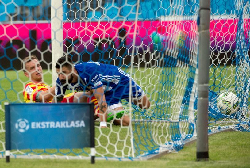 Tak padł gol na 1-0 /Grzegorz Michałowski /PAP