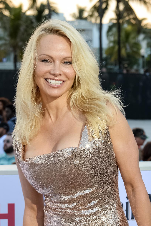 Tak Pamela Anderson wyglądała jeszcze niedawno /Jason Koerner /Getty Images