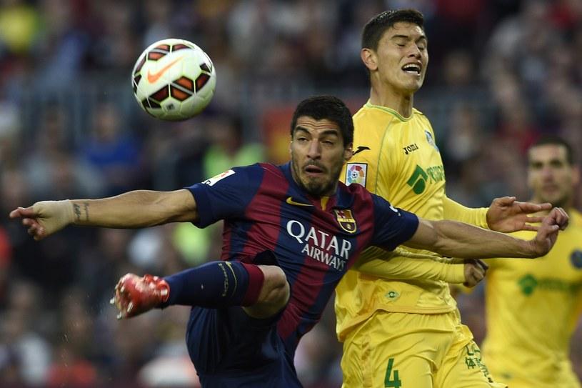 Tak pierwszą swoją bramkę zdobył Luis Suarez /AFP