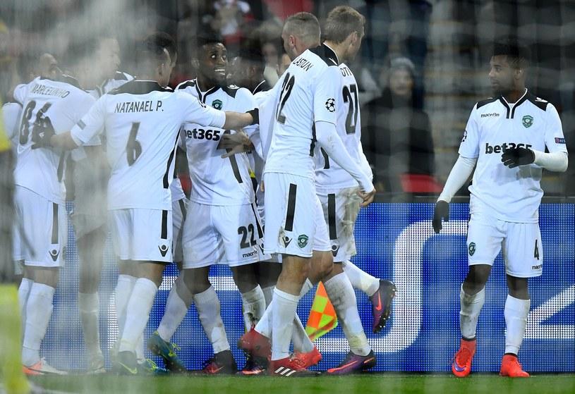 Tak piłkarze Łudogorca cieszyli się z gola przeciwko PSG /AFP