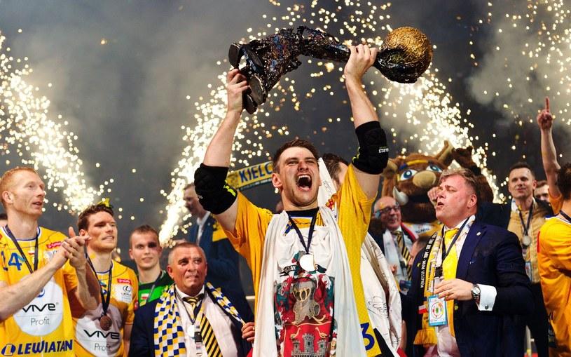 Tak piłkarze ręczni Vive Tauronu Kielce świętowali triumf w Lidze Mistrzów /AFP