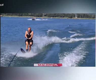 Tak Piotr Żyła radzi sobie na... nartach wodnych. Wideo