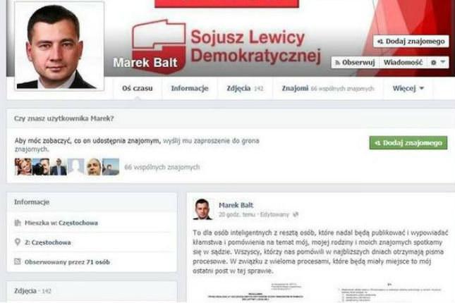 """Tak poseł straszył internautów pozwami sądowymi Fot. Facebook/""""Dziennik Zachodni"""" /materiały prasowe"""