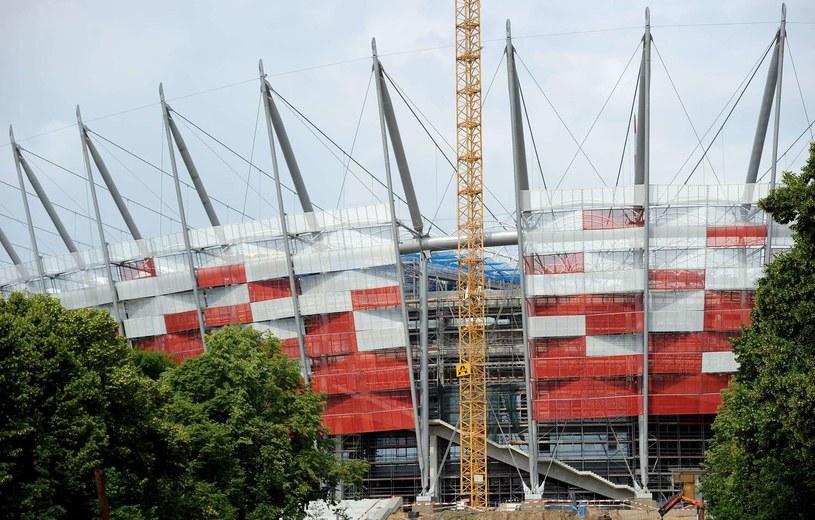 Tak powstawał Stadion Narodowy w Warszawie /AFP