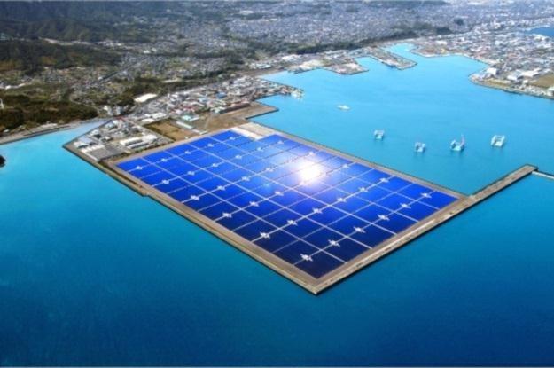 Tak prezentować będzie się gigantyczna elektrownia słoneczna w okolicach Kagoshimy (Fot. Kyocera) /Internet