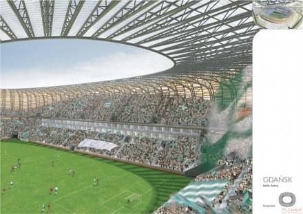 Tak prezentować się będzie obiekt w Gdańsku na Euro 2012 /Informacja prasowa